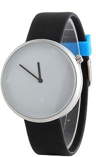 Watch Pure Color Dial Plastic Strap Watch Ladies Men`s Watch Universal Quartz Watch