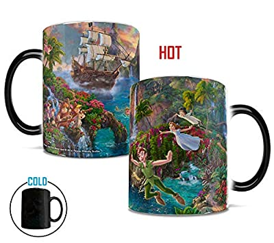 Disney - Peter Pan - Neverland - Morphing Mugs Heat Sensitive Mug – Image revealed when HOT liquid is added - 11oz Large Drinkware