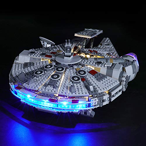 BRIKSMAX Kit de Iluminación Led para Lego Star Wars Halcón Milenario,Compatible con Ladrillos de Construcción Lego Modelo 75257, Juego de Legos no Incluido