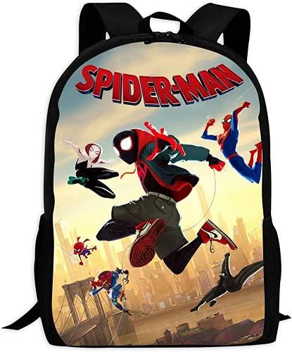 Amacigana Spiderman Mochila 3D Comic Superhéroe, mochila escolar para niños, mochila de lona para adolescentes, Spiderman 2., talla única,