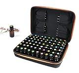 Carplink ätherische Öle Fall Halten Sie bis zu 70 Flaschen ätherisches Öl mit Hartschalenkoffer für 10 ml 15 ml Roller Bottle Organizer(Orange)