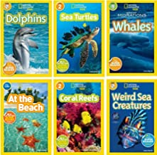 National Geographic Kids Ocean Life Six Book Set : Weird Sea Creatures, Dolphins,Coral Reefs, At the Beach, Sea Turtles, Great Migrations: Whales