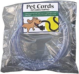PetCords 10フィート、無香料、無臭までの絶縁ケーブルを介して噛むからあなたのペットを保護しprotector-犬と猫コード