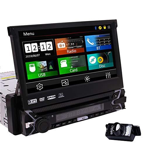 EINCAR GPS Navigation 1Din Autoradio 7 Zoll Touchscreen Muti Anti Diebstahl abnehmbare Stereo Auto DVD Player Bluetooth Unterstützung Lenkrad Steuerung FM AM RDS Receiver Audio System & Backup-Kamera