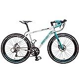 Benotto Triathlon Ruta Bicicleta de Aluminio, color Blanco/Azul, Extra Large