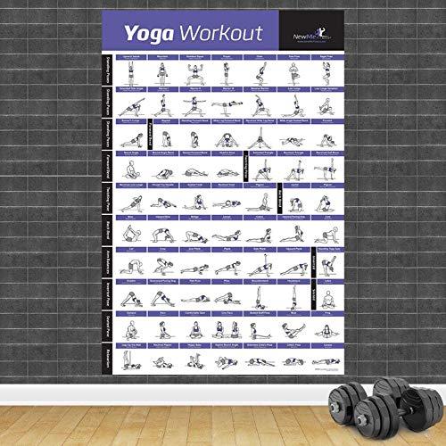 Poster,Bodybuilding Gym Sport Fitness Hantel Poster,Workout Übung Trainingsplan,Kunst Wand Poster Drucken Wohnkultur Eine 20X27Inch(50X70Cm)