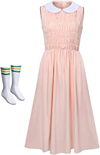 NUWIND - Disfraz de Stranger Eleven para Mujer Falda Rosa