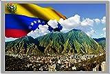 CARACAS FRIDGE MAGNET, THE CAPITAL CITY OF VENEZUELA CALAMITA DA FRIGO