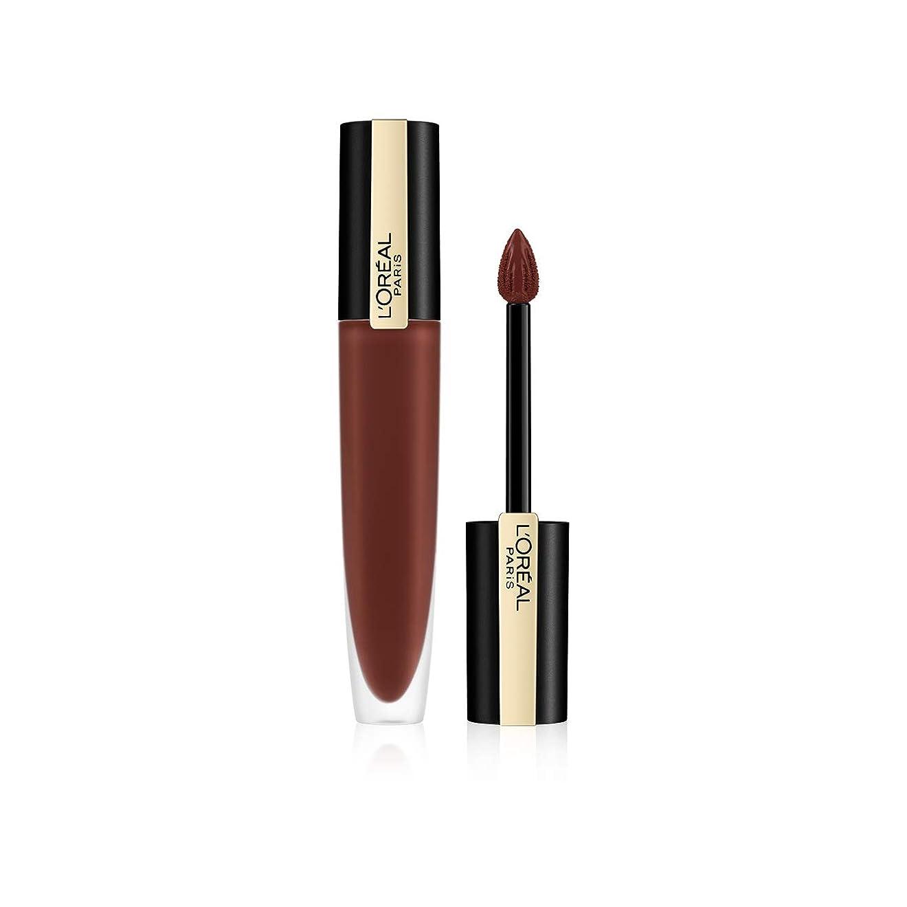 ブリリアントなので潤滑するL'Oreal Paris Rouge Signature Matte Liquid Lipstick,126 I Play, 7g