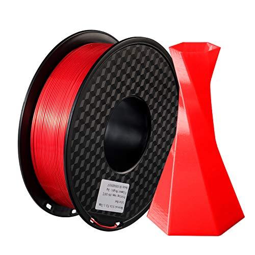 TIANSE 1,75 mm rotes Seiden-PLA-3D-Druckerfilament, seidig glänzendes Filament PLA 1,75 mm, 1 kg Spule (2,2 lbs), Maßgenauigkeit +/- 0,03 mm