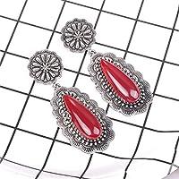 XDDNY2019 新ヴィンテージエスニック耳フックブラブラドロップピアス女性のための女性の石のブライダルパーティー宝石類の装飾品アクセサリーイヤリング メンズ