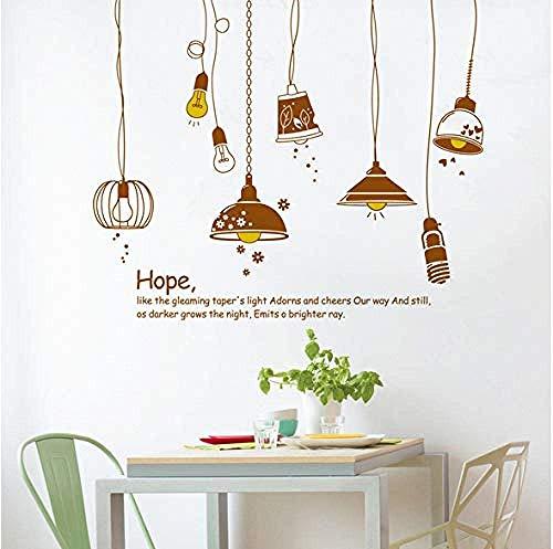 GFF Adesivo murale Il lampadario Hope per Soggiorno Camera da Letto Cucina Decorazione murale Adesivi Rimovibili Murali