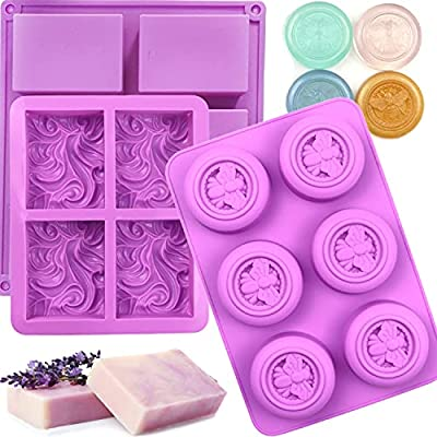 Amazon - 50% Off on  3 Pack Silicone Soap Molds Shape 4 Cavity Ocean Wave Soap Molds