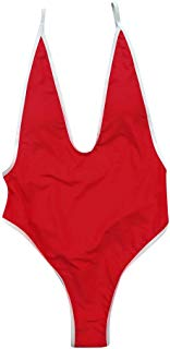 YAliDa 2019 clearance sale One Piece Women V Neck Thong Bikini Monokini Swimsuit Swimwear Bathing Beachwear(,