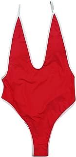 2019 clearance sale One Piece Women V Neck Thong Bikini Monokini Swimsuit Swimwear Bathing Beachwear(,