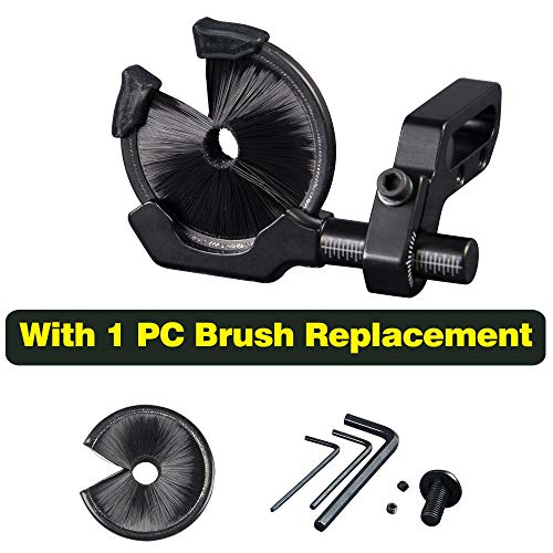 Compound Bow Full Containment Brush Arrow Rest Archery Arrow Rest Round Replacement Brush Bow and Arrow Shooting Target Parts Tool Hunting Accessories Arrow Stand (Black)