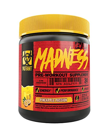 Mutant Madness - Redefines the Pre-Workout Experience and Takes it to a Whole New Extreme Level, Engineered Exclusively for High Intensity Workouts, 225g