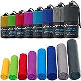 Fit-Flip Asciugamano Microfibra – in Tutti i Colori, 8 Misure – Compatto & ad Asciugatura Rapida – Asciugamani Sportivi, Asciugamani da Mare e Asciugamani da Viaggio (30x50cm Blu - Senza Borsa)