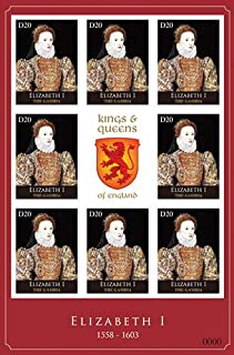 2012 Elizabeth I, Kings & Queens of England, Collectible Sheet of 8 Stamps, Mint Never Hinged