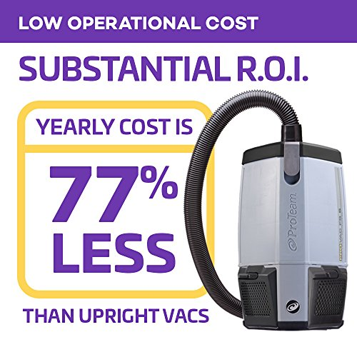 ProTeam Backpack Vacuums, ProVac FS 6 Commercial Backpack Vacuum with HEPA Media Filtration and Restaurant Tool Kit, 6 Quart, Corded