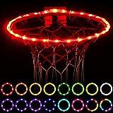 WAYBELIVE LED Basketball Hoop Lights, Remote Control Basketball Rim LED Light, 16 Color Change by...