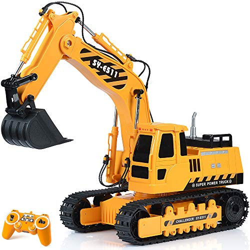 Remote Control Excavator RC Toy 1:20 RC Excavator Fully Functional...