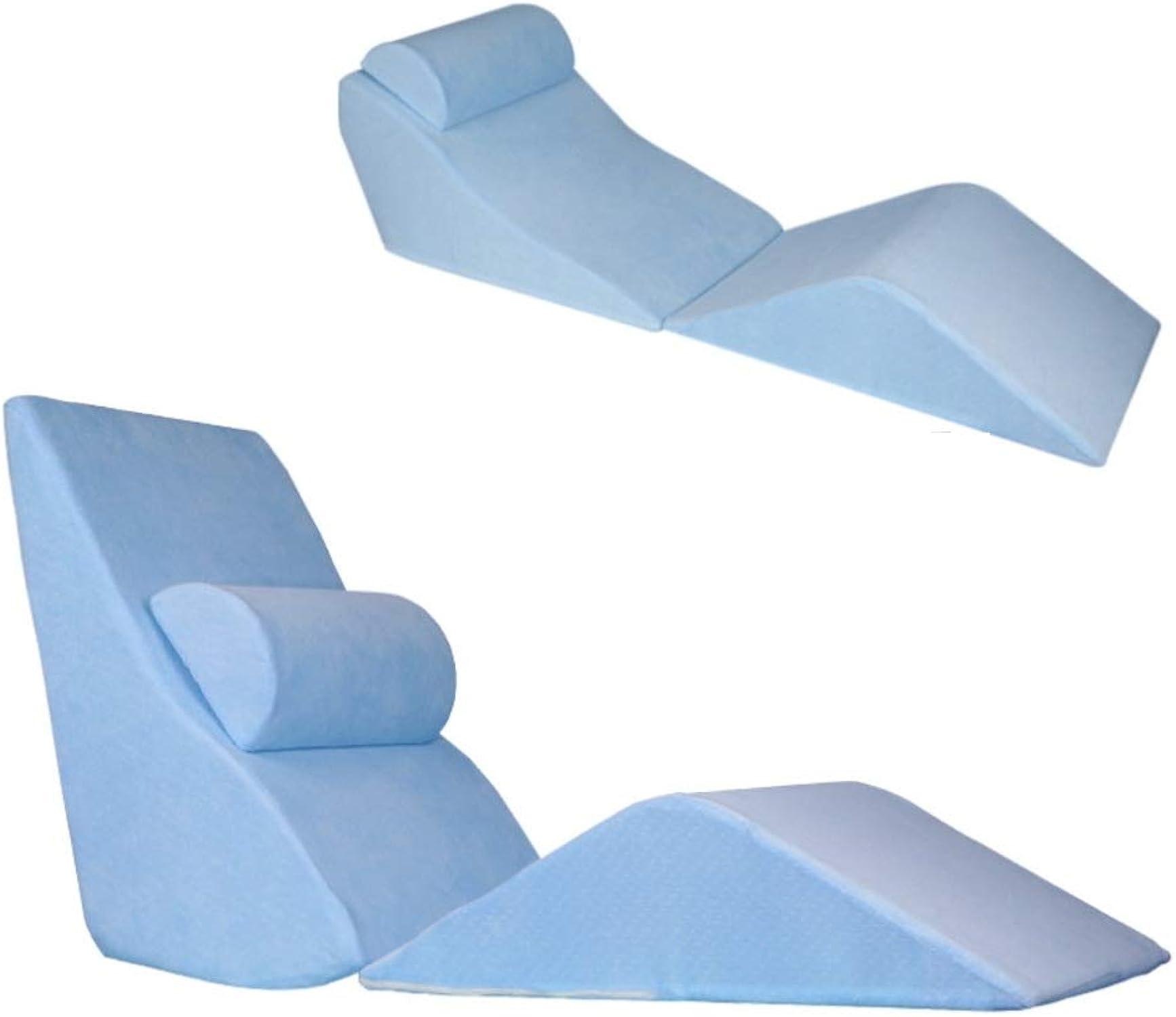 JYXJJKK Dossier Grand démontable et Lavable,Oreiller de Taille Triangle-Bleu