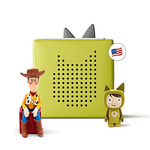 Toniebox Starter Set Green + Disney Toy Story - Educational Musical Toy for Boys and Girls - Imagination-Building, Screen-Free Digital Listening Experience That Plays Stories, Songs, and More