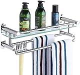 WECDS Estantería de baño de acero inoxidable perforada para colgar en la pared (tamaño: 50 cm)