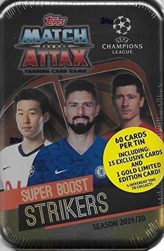 Match Attax 2019 2020 Topps UEFA Champions League Fußball Sammelkartenspiel Versiegelte Mega-Sammeldosen mit Bonus Gold Karten und exklusiven Einsätzen