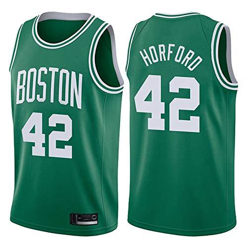 LITBIT Baloncesto Masculino NBA Jersey Boston Celtics 42# Horford 2021 Transpirable Quick Secking sin Mangas Vestima Top para Deportes,Verde,M