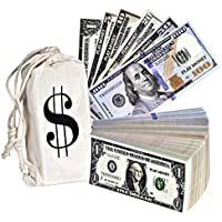 Playkidz Money Double Sided Dollar Bills Paper Sack