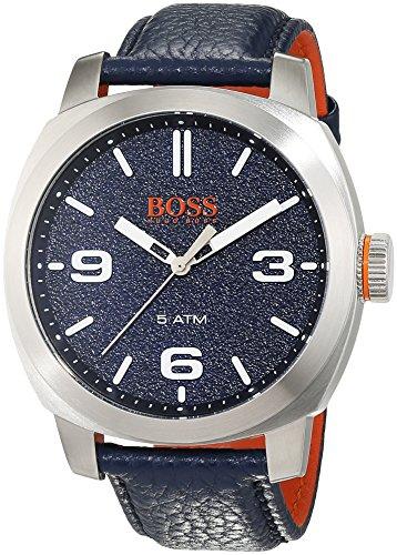 Hugo Boss Orange Cape Town Herren-Armbanduhr Analog mit blauem Leder Armband 1513410