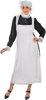 Bristol Novelty AC289 Victorian Maid Adult Costume, Size 10-14