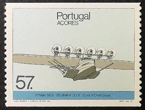 21 Maio 1932 Dornier DO X Cmdt F. Christiansen Portugal Aircraft -Framed Postage Stamp Art 12322