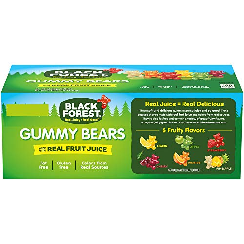 Black Forest Gummy Bears Candy, 1.5 Ounce, Pack of 24 from Ferrara Pan Candy Co.