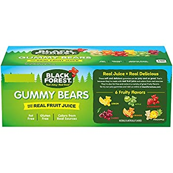 Black Forest Gummy Bears Candy 1.5 Ounce Pack of 24