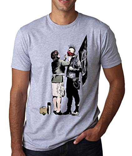 ShutUp Co. Banksy Anarchist and Mother Camiseta para Hombre