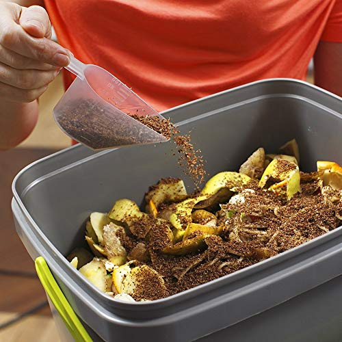Skaza Bokashi Organko Set (2 x 16 L) | 2 Composters from Recycled Plastic | Starter Set for Kitchen & Garden Composting | with EM Bokashi Bran 1 kg (Grey-Green)