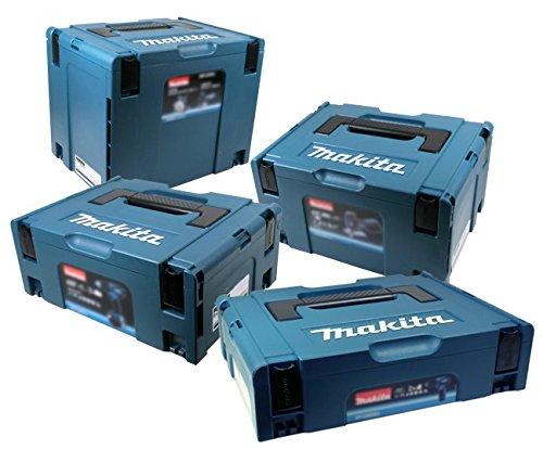 Makita Makpac Set Gr. 1 + Gr. 2 + Gr. 3 + Gr. 4 Transportbox und Werkzeugkiste