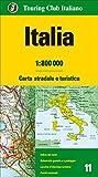 Italia 1:800.000. Carta stradale e turistica [Lingua inglese]