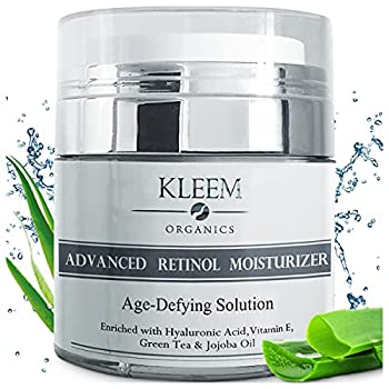 Anti Aging Retinol Moisturizer Cream for Face and Neck with 2.5% Retinol and Hyaluronic Acid Top Night Anti Wrinkle Facial Cream for Men & Women to Reduce Wrinkles & Dark Spots - Cruelty Free