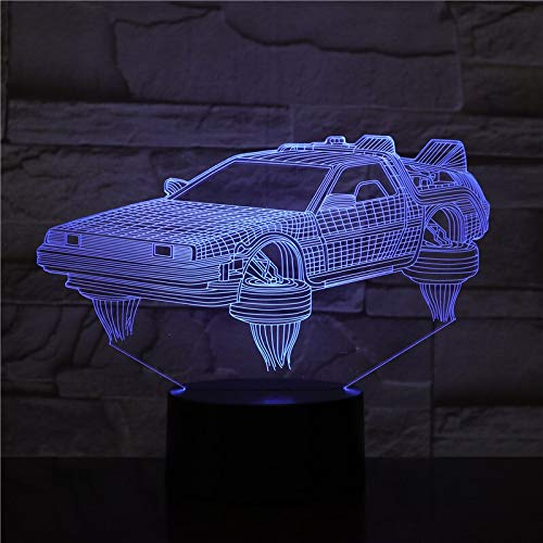 The Future 3D Vehicle Lamp Nice Gift for Movie Fans Night Light Operated by Fast Led Night Light Lamp
