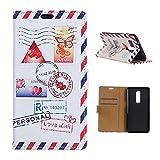 CoverKingz Handyhülle für OnePlus 6 - Handytasche mit Kartenfach OnePlus 6 Cover - Handy Hülle klappbar Motiv Love Mail