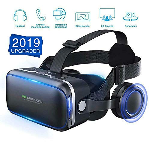 MeterMall Useful 3D Glasses Virtual Reality Headset VR Box Goggles for Android iPhone Samsung