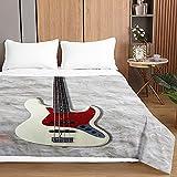 3D Guitarra Colcha de Verano Primavera Cubrecama Colcha Bouti, Chickwin Ligero Edredón Manta Suave Multiuso Colchas para Cama de Infantil Individual Matrimonio (Gris Claro,150x200cm)