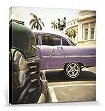 1art1 Kuba - Oldtimer, Lee Frost Bilder Leinwand-Bild Auf