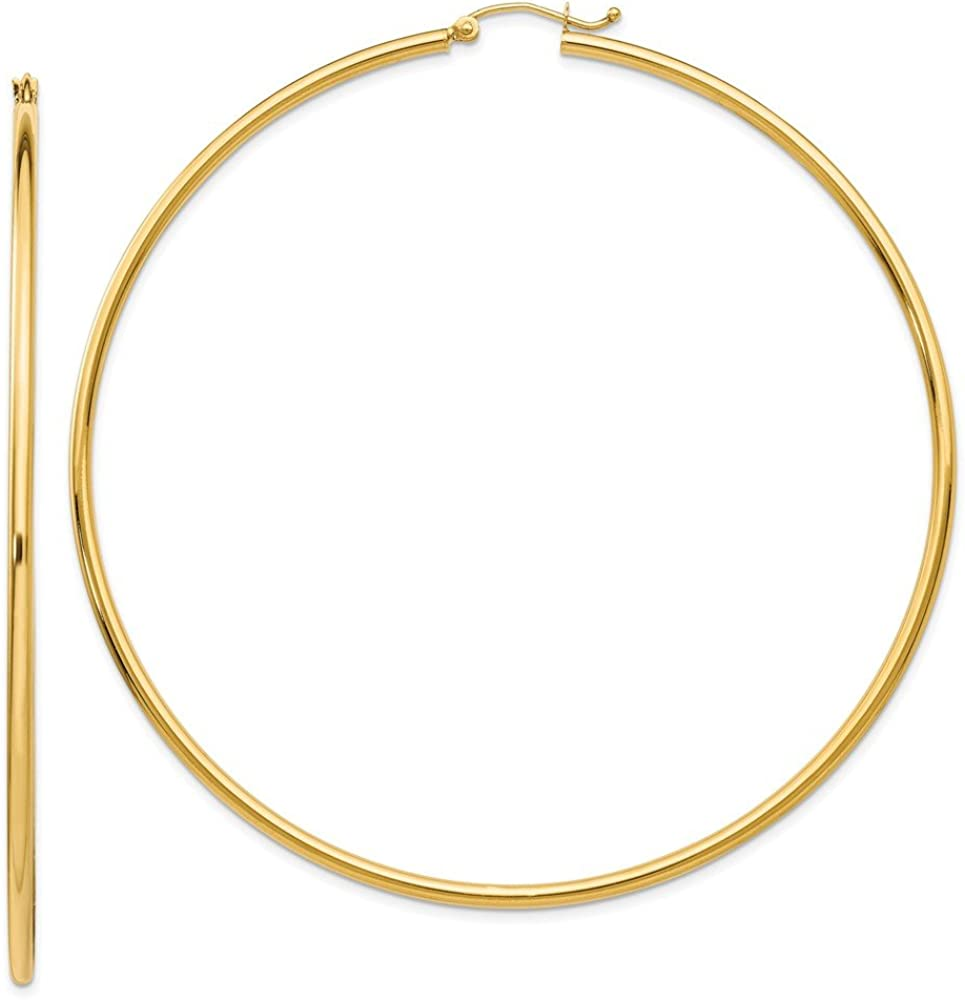14k Yellow Gold Lightweight Hoop Earrings Ear Hoops Set Round Classic Fine Jewelry For Women Gifts For Her