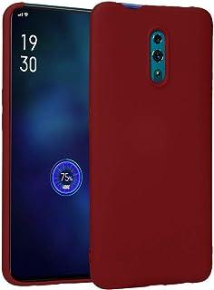 Matte flexible plastic Cover for Oppo Reno (Dark Red)