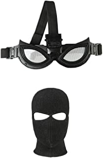 coskey Peter Parker Costume Stealth Suit Costume Mask and Eyeglasses 2019 Spiderman 2: Far from Home Black